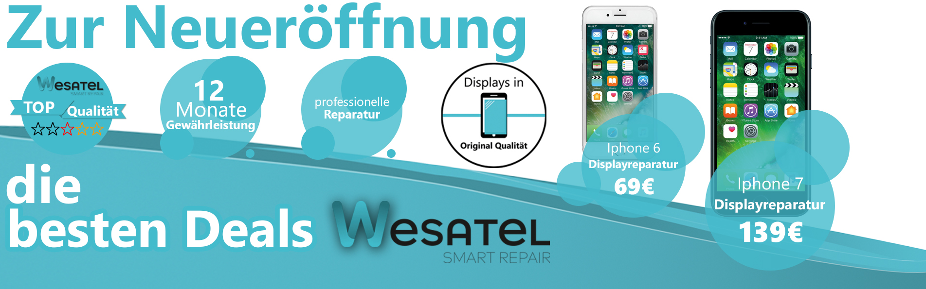 neuer ffnungsangebote wesatel handy reparatur hamburg wesatel. Black Bedroom Furniture Sets. Home Design Ideas