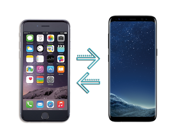 Datentransfer Android - iOS - Apple - Android